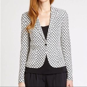 Tory Burch Hayley Scallop Print One Button Blazer